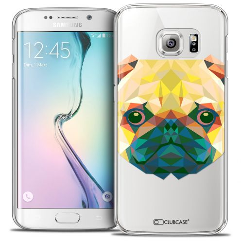 Extra Slim Crystal Galaxy S6 Edge Case Polygon Animals Dog