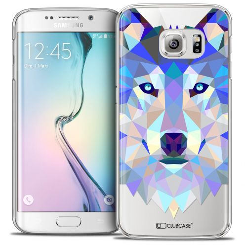 Extra Slim Crystal Galaxy S6 Edge Case Polygon Animals Wolf