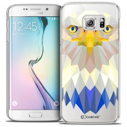 Extra Slim Crystal Galaxy S6 Edge Case Polygon Animals Eagle