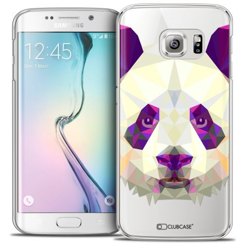 Extra Slim Crystal Galaxy S6 Edge Case Polygon Animals Panda