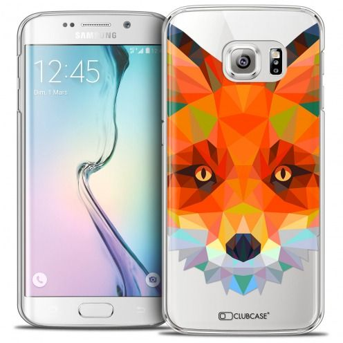 Extra Slim Crystal Galaxy S6 Edge Case Polygon Animals Fox