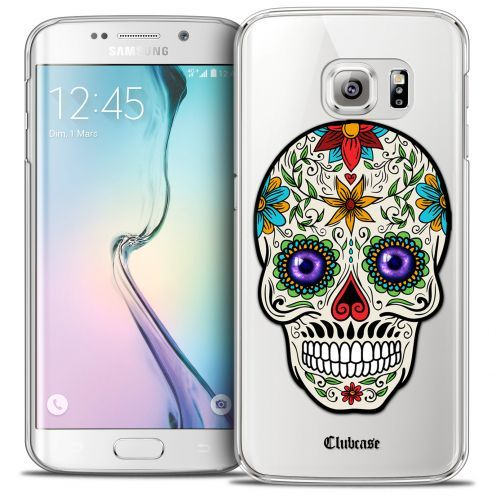 Extra Slim Crystal Galaxy S6 Edge Case Skull Maria's Flower