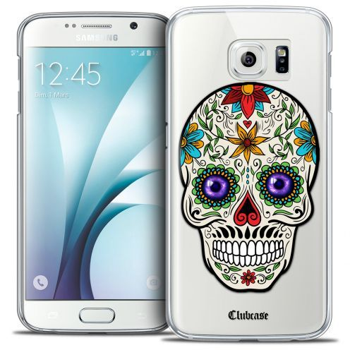 Extra Slim Crystal Galaxy S6 Case Skull Maria's Flower