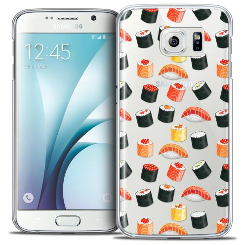 Extra Slim Crystal Galaxy S6 Case Foodie Sushi