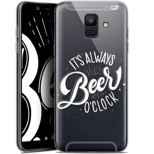 "Extra Slim Gel Samsung Galaxy A6 2018 (5.45"") Case Design Its Beer O'Clock"