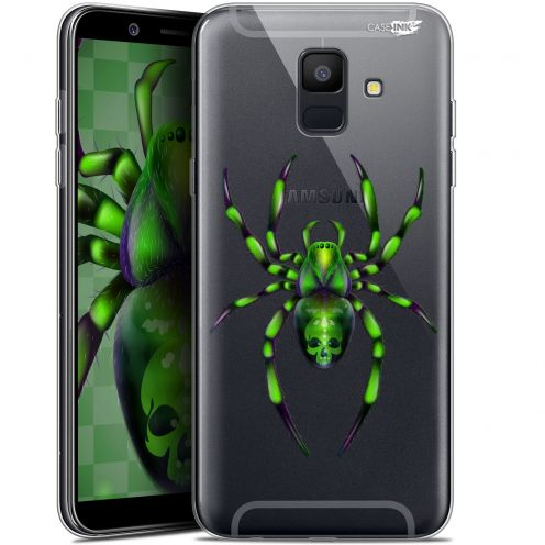 "Extra Slim Gel Samsung Galaxy A6 2018 (5.45"") Case Design Arraignée Verte"
