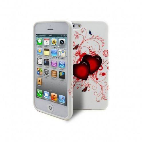 ABSTRACTION soft case Red hearts Design for iPhone 5
