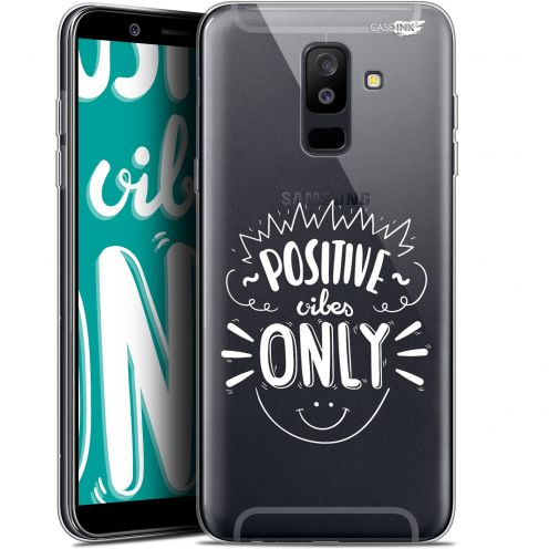 """Extra Slim Gel Samsung Galaxy A6 PLUS 2018 (6"""") Case Design Positive Vibes Only"""
