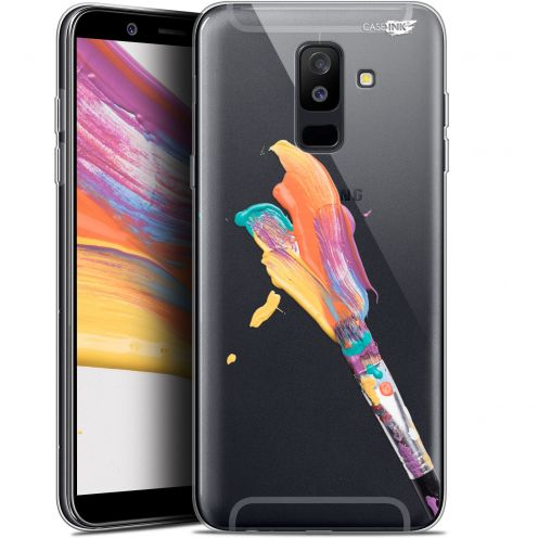"Extra Slim Gel Samsung Galaxy A6 PLUS 2018 (6"") Case Design Pinceau de Peinture"