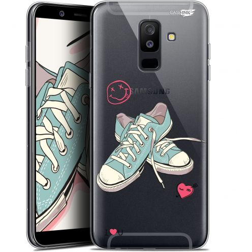 "Extra Slim Gel Samsung Galaxy A6 PLUS 2018 (6"") Case Design Mes Sneakers d'Amour"