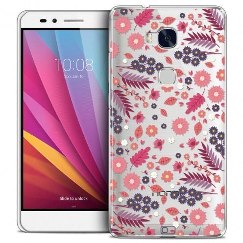 Extra Slim Crystal Honor 5X Case Spring Floraison