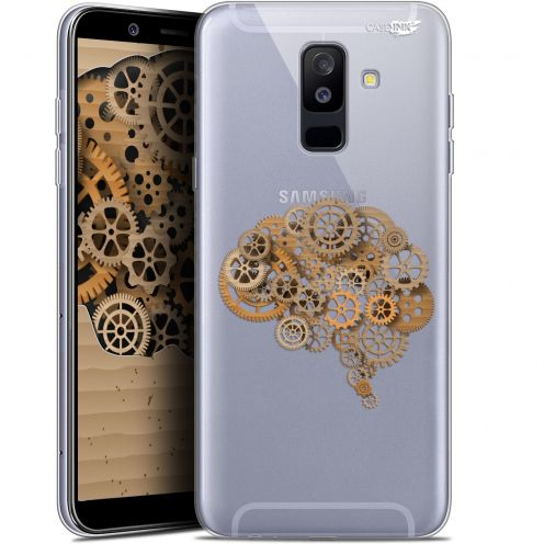 "Extra Slim Gel Samsung Galaxy A6 PLUS 2018 (6"") Case Design Mécanismes du Cerveau"