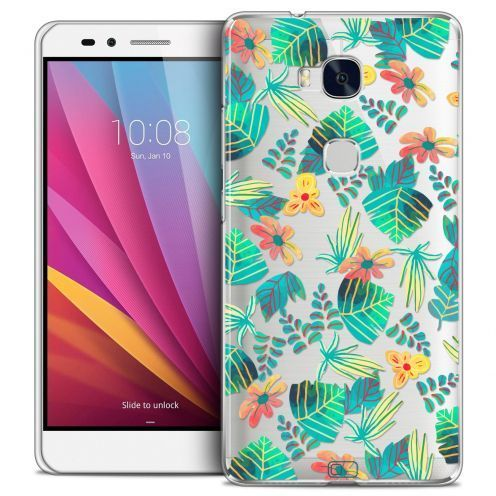Extra Slim Crystal Honor 5X Case Spring Tropical
