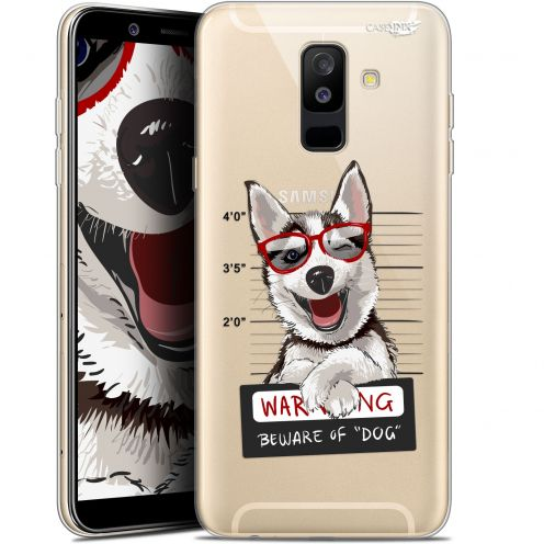 "Extra Slim Gel Samsung Galaxy A6 PLUS 2018 (6"") Case Design Beware The Husky Dog"