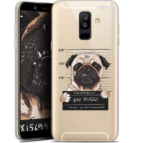 "Extra Slim Gel Samsung Galaxy A6 PLUS 2018 (6"") Case Design Beware The Puggy Dog"