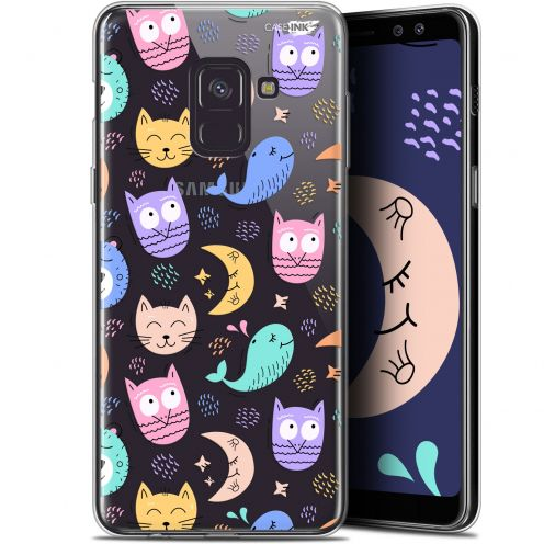"Extra Slim Gel Samsung Galaxy A8 (2018) A530 (5.6"") Case Design Chat Hibou"