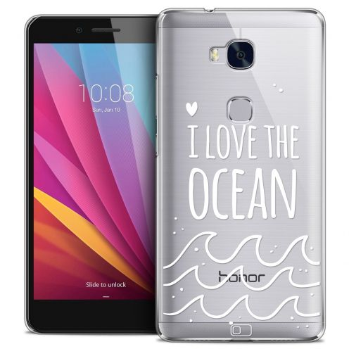 Extra Slim Crystal Honor 5X Case Summer I Love Ocean