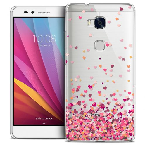 Extra Slim Crystal Honor 5X Case Sweetie Heart Flakes