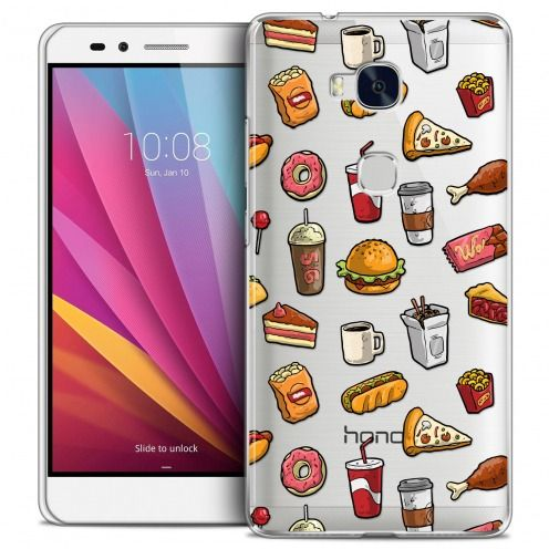 Extra Slim Crystal Honor 5X Case Foodie Fast Food