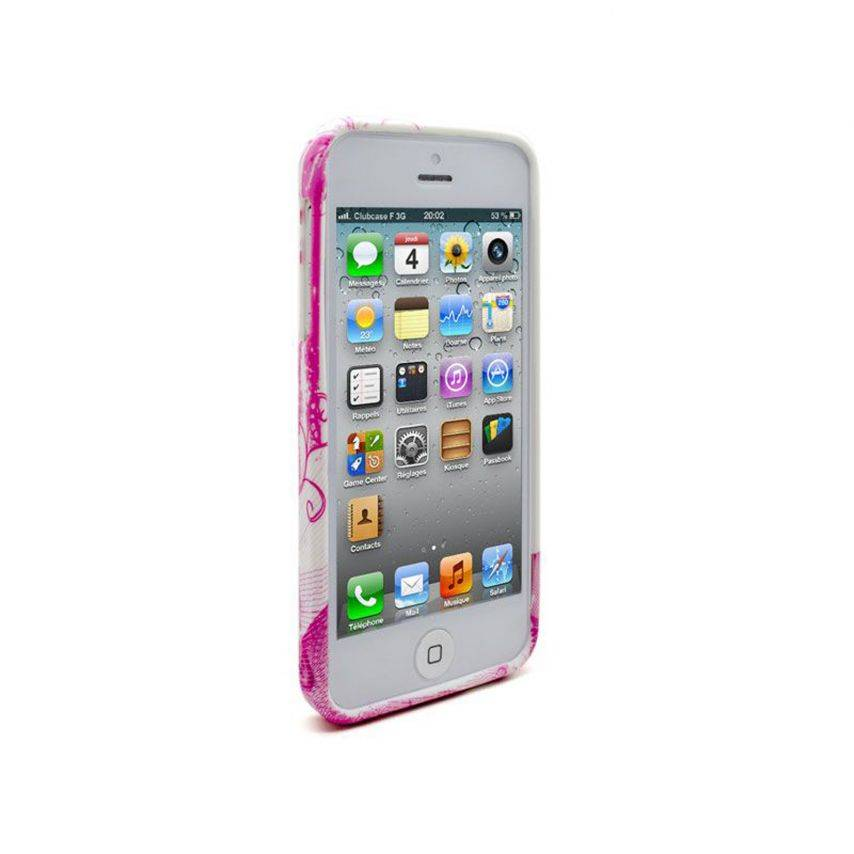 ABSTRACTION soft case Pink hearts Design for iPhone 5