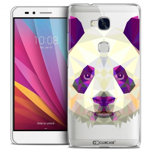 Extra Slim Crystal Honor 5X Case Polygon Animals Panda
