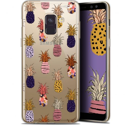 "Extra Slim Gel Samsung Galaxy A8+ (2018) A730 (6"") Case Design Ananas Gold"