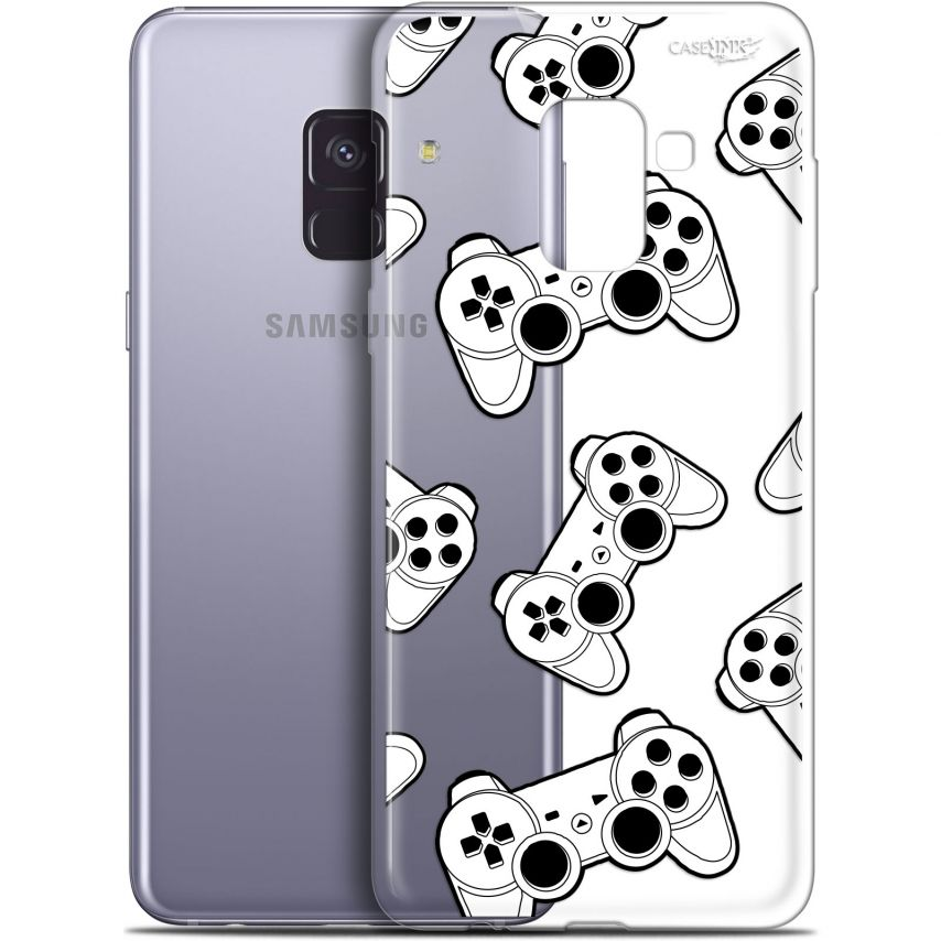 "Extra Slim Gel Samsung Galaxy A8+ (2018) A730 (6"") Case Design Game Play Joysticks"