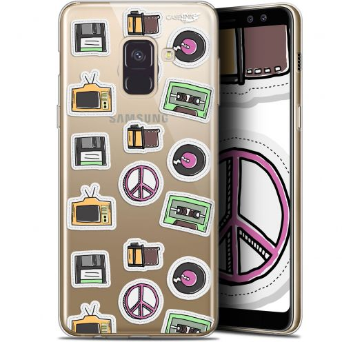 "Extra Slim Gel Samsung Galaxy A8+ (2018) A730 (6"") Case Design Vintage Stickers"