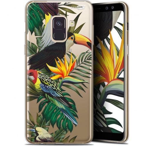 "Extra Slim Gel Samsung Galaxy A8+ (2018) A730 (6"") Case Design Toucan Tropical"