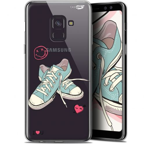 """Extra Slim Gel Samsung Galaxy A8+ (2018) A730 (6"""") Case Design Mes Sneakers d'Amour"""