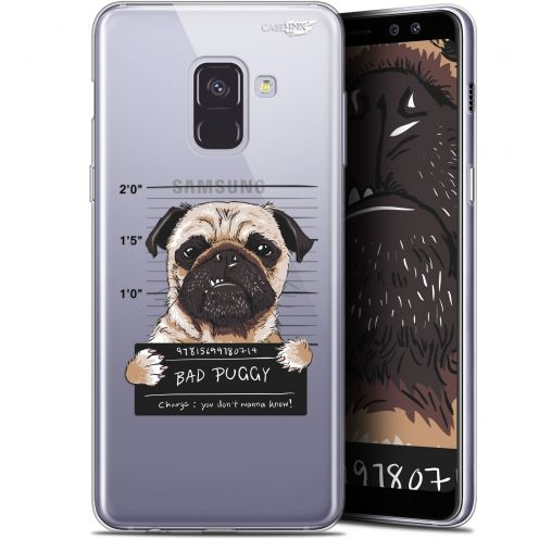 "Extra Slim Gel Samsung Galaxy A8+ (2018) A730 (6"") Case Design Beware The Puggy Dog"