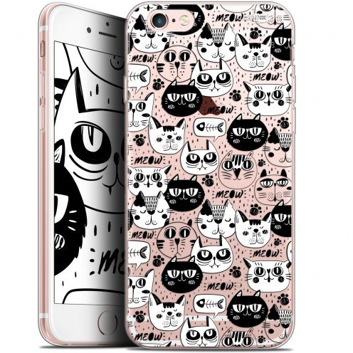 "Extra Slim Gel Apple iPhone 6/6s (4.7"") Case Design Chat Noir Chat Blanc"