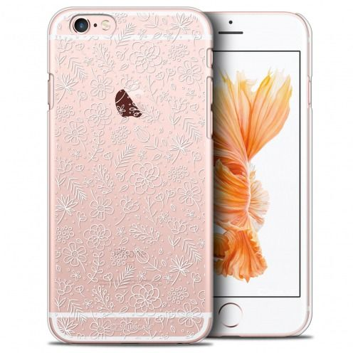 Extra Slim Crystal iPhone 6/6s Plus Case Summer Florale Blanche