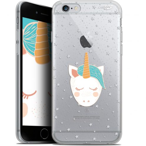 "Extra Slim Gel Apple iPhone 6/6s (4.7"") Case Design Licorne Dors"