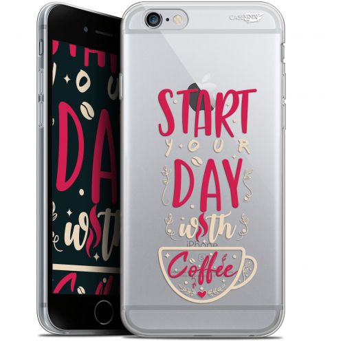 "Extra Slim Gel Apple iPhone 6/6s (4.7"") Case Design Start With Coffee"