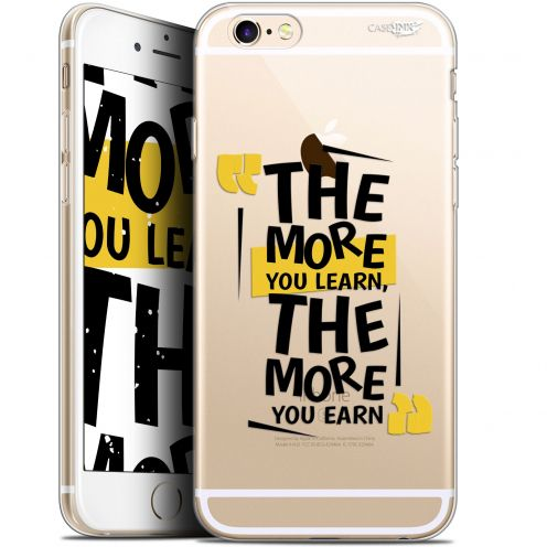 """Extra Slim Gel Apple iPhone 6/6s (4.7"""") Case Design The More You Learn"""