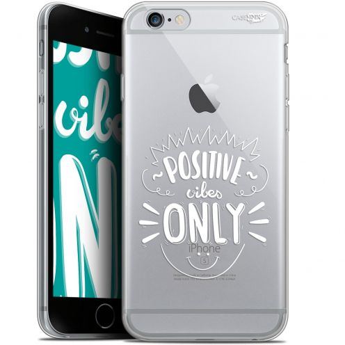 """Extra Slim Gel Apple iPhone 6/6s (4.7"""") Case Design Positive Vibes Only"""