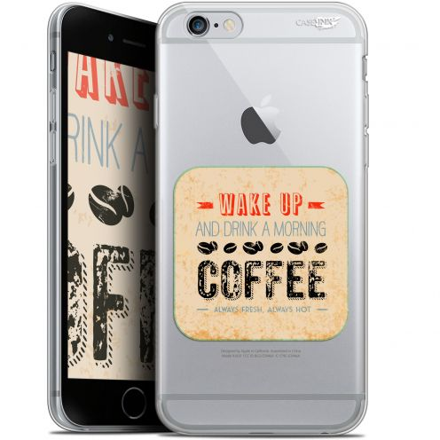 "Extra Slim Gel Apple iPhone 6/6s (4.7"") Case Design Wake Up With Coffee"