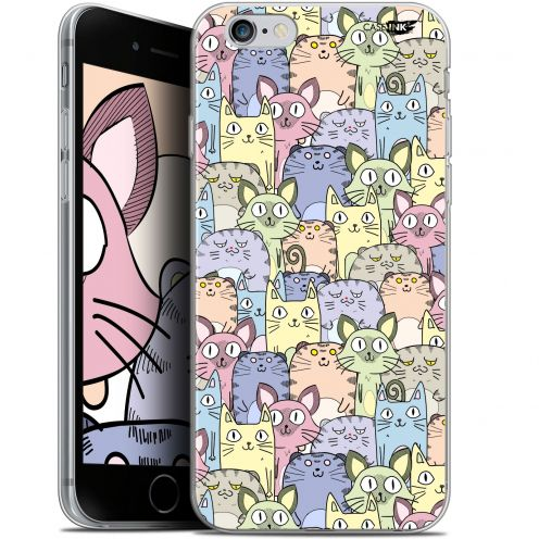 "Extra Slim Gel Apple iPhone 6 Plus/ iPhone 6s Plus (5.5"") Case Design Foule de Chats"
