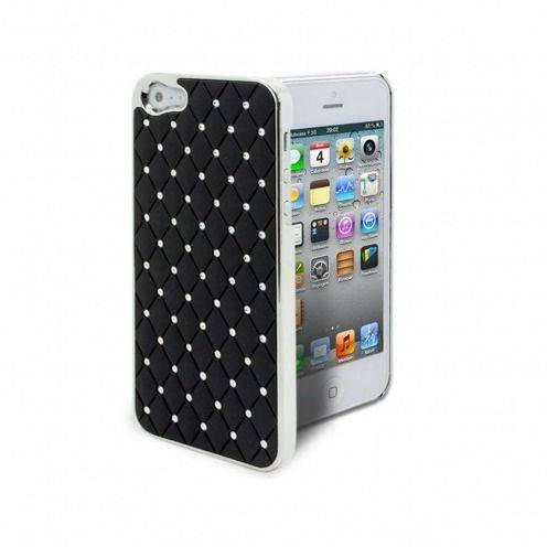 Luxury Satin & diamond case for iPhone 5 Black