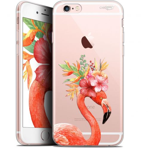 "Extra Slim Gel Apple iPhone 6 Plus/ iPhone 6s Plus (5.5"") Case Design Flamant Rose Fleuri"