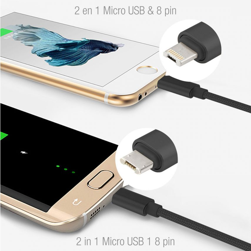 3A Fast Series USB to 8 Pin Cable for iPhone 6s/6/Plus/5/S/C/iPad/iPad Pro – Black