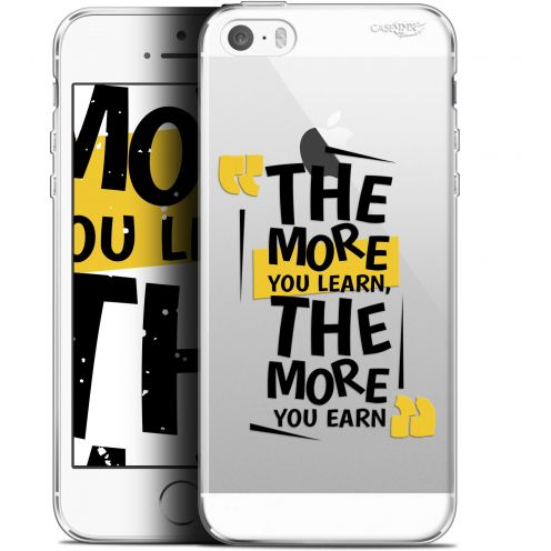 """Extra Slim Gel Apple iPhone 5/5s/SE (4"""") Case Design The More You Learn"""