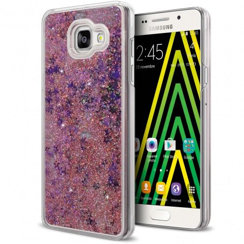 Crystal Liquid Glitter Diamonds case for Samsung Galaxy A5 2016 (A510) Pink