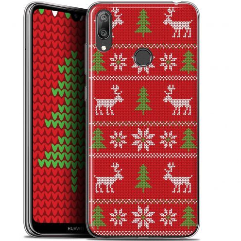"""Extra Slim Gel Huawei Y7 / Prime / Pro 2019 (6.26"""") Case Noël 2017 Couture Rouge"""