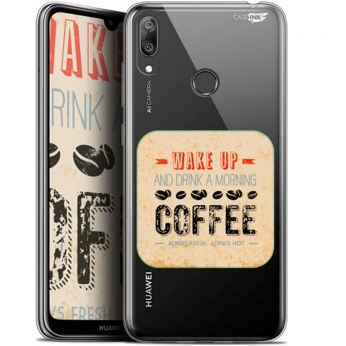 "Extra Slim Gel Huawei Y7 / Prime / Pro 2019 (6.26"") Case Design Wake Up With Coffee"