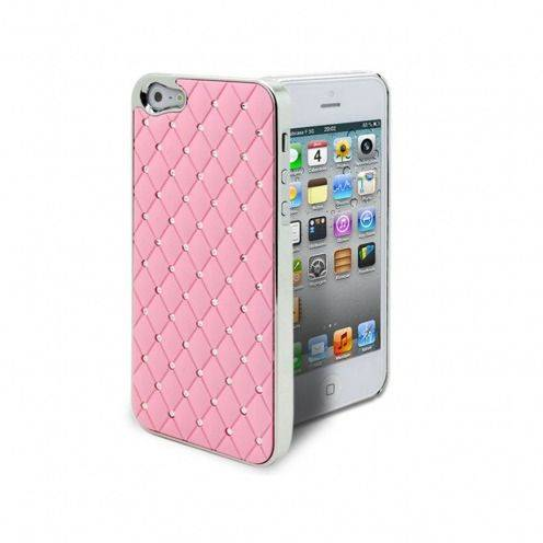 Luxury Satin & diamond case for iPhone 5 Pink