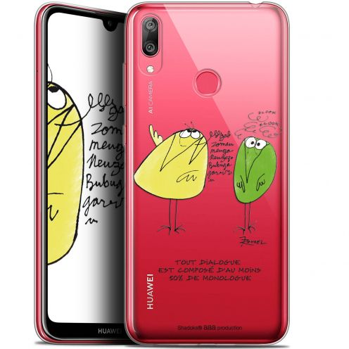 "Extra Slim Gel Huawei Y7 / Prime / Pro 2019 (6.26"") Case Les Shadoks® Le Dialogue"