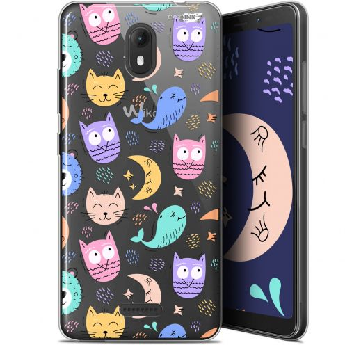 "Extra Slim Gel Wiko View GO (5.7"") Case Design Chat Hibou"