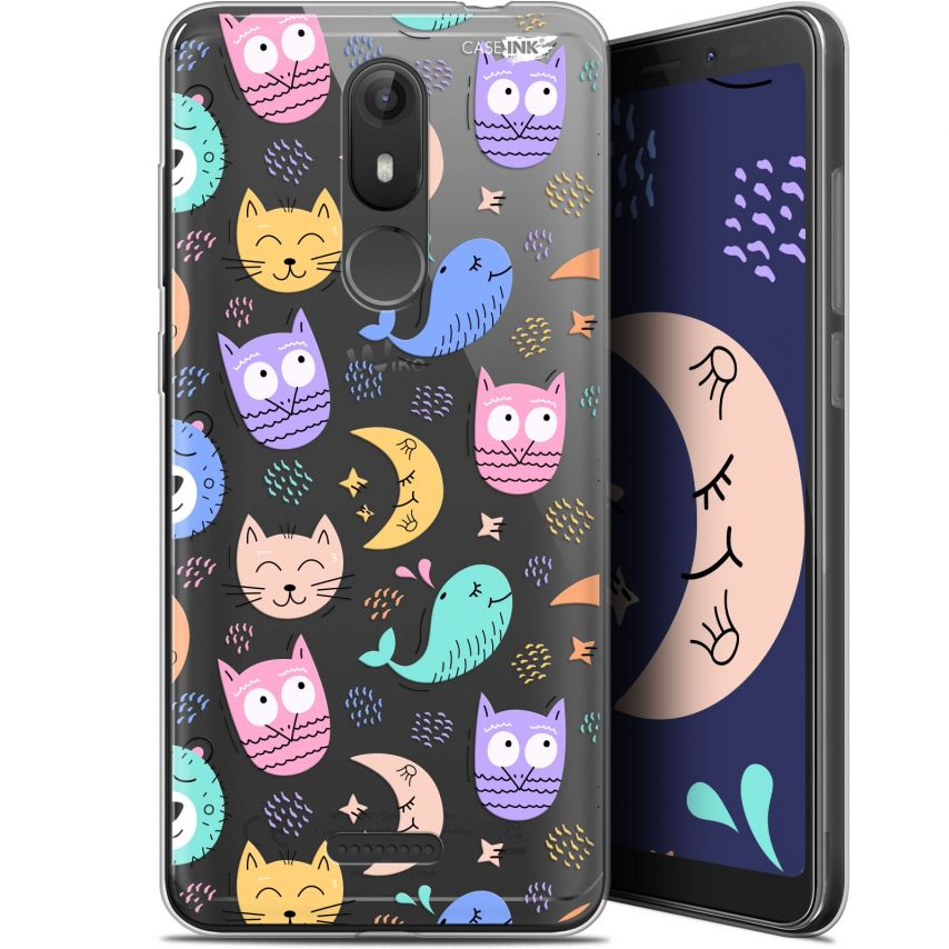 "Extra Slim Gel Wiko View LITE (5.45"") Case Design Chat Hibou"
